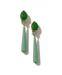 clip long turquoise vert ferrandis