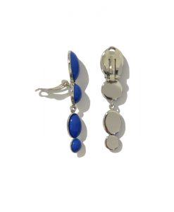 Boucle d' oreille Clip FERRANDIS Bleu