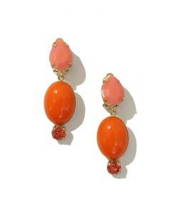 PHILIPPE FERRANDIS Boucle Oreille Clip Orange