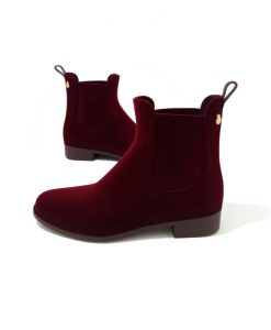 BOTTINES Pluie VELVETY Bordeaux LEMON JELLY