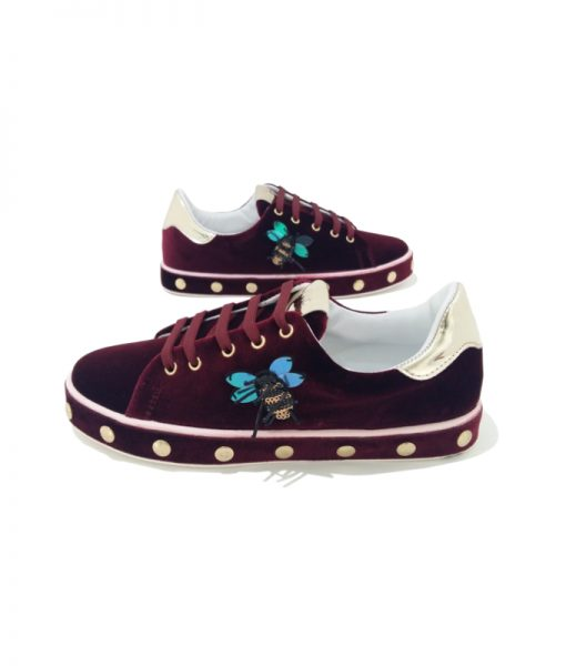 SNEAKERS Velours LIU JO Bordeaux