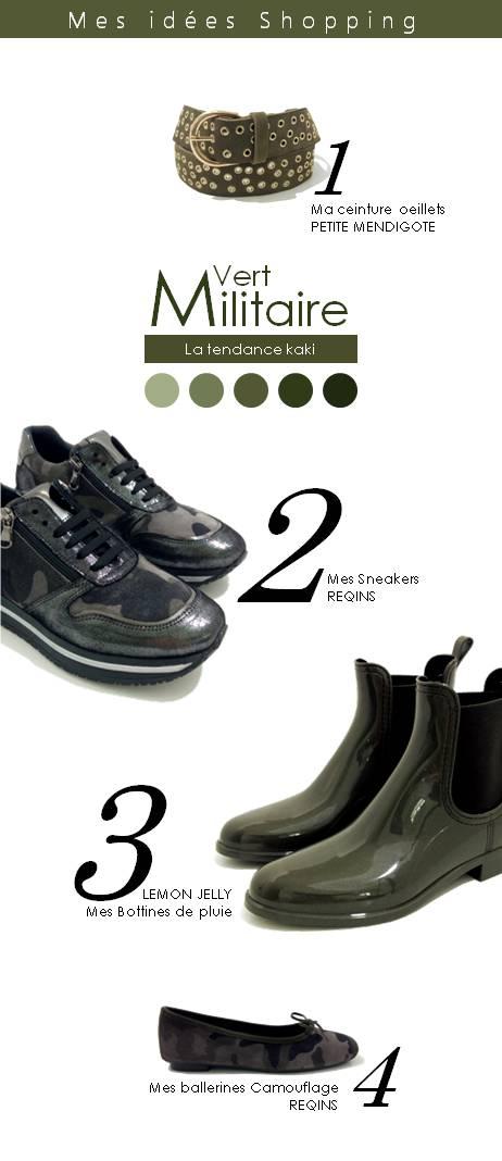 shopping vert militaire kaki