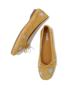 BALLERINES REQINS Femme HAPPY Ocre