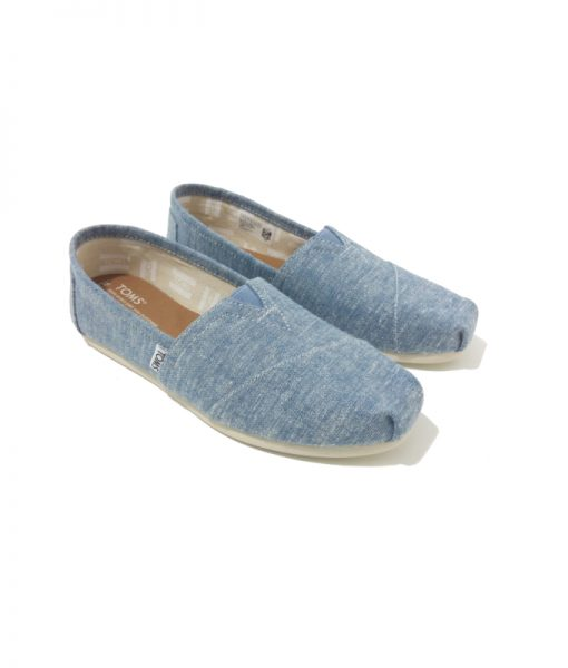 CHAUSSURES Femme Toile Chambray Bleu TOMS