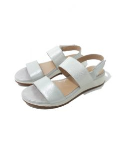 SANDALES Blanches Cuir Plateforme HE SPRING