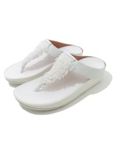 MULES Compensées Blanches FITFLOP Rumba