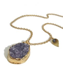 collier long pierre quartz amethyste