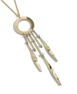 collier tendance pendentif doré