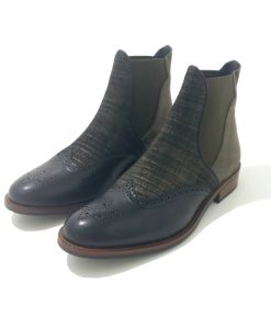 CHELSEA BOOTS Cuir Kaki HE SPRING