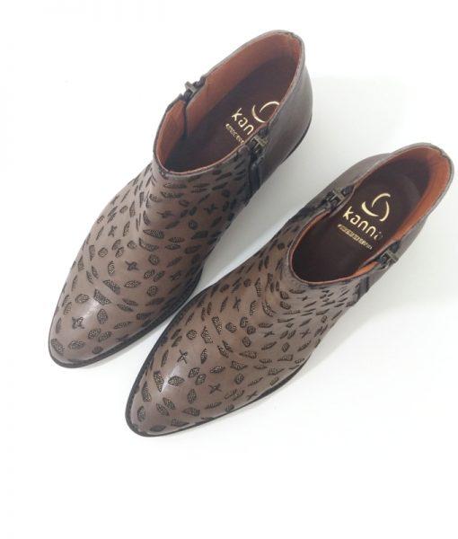 KANNA Boots Cuir Taupe Orma