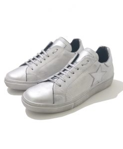 SNEAKERS Cuir Argent REQINS Soho Stella