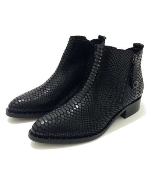 BOOTS Cuir Noir Philippe MORVAN State