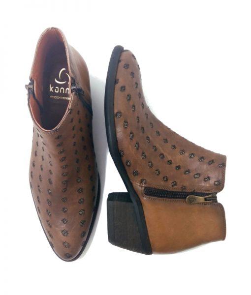 Boots Femme Cuir camel Kanna