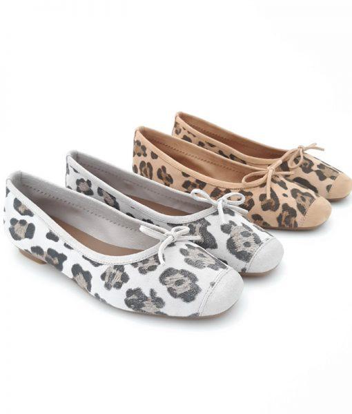 Ballerines leopard cuir REQINS Harmony Wild