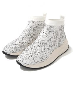 CAFE NOIR BOOTS Blanches Strass Lycra