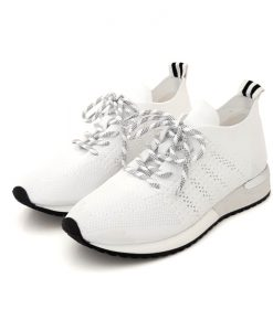 REQINS Sneakers Femme Blanc Ines Crochet