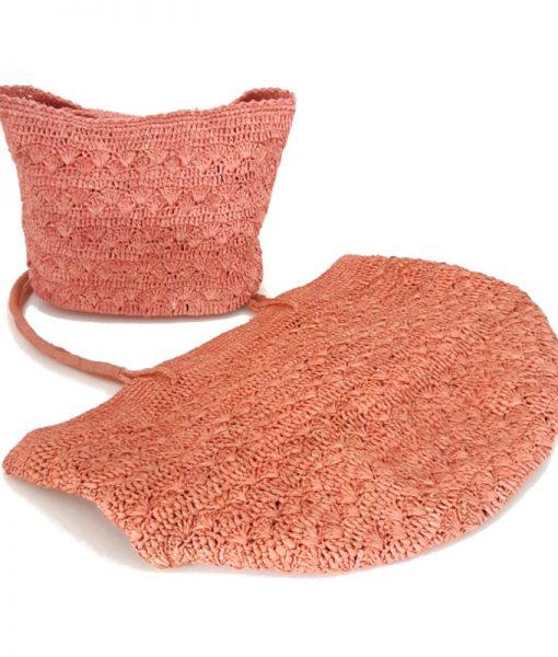 CABAS Crochet Raphia IVAHONA Lotus