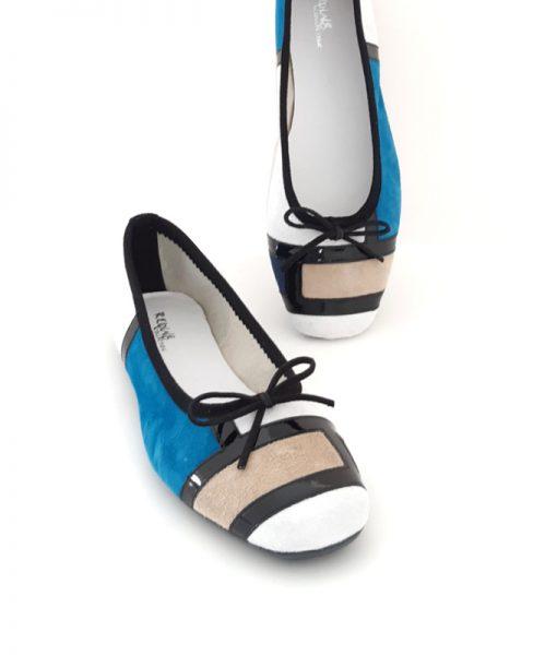 REQINS Ballerines Hondriane Beige Bleu