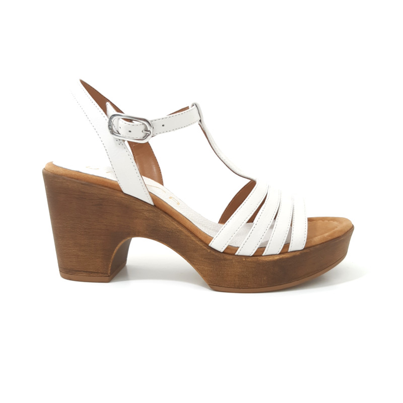 Blanches Sandales Unisa Sandales Blanches Cuir Cuir Salome Salome Yy6gb7fv