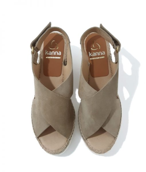 Sandales Plateforme Taupe KANNA femme