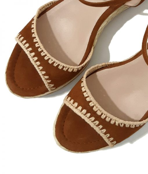 UNISA Sandales Compensées Brodées Fantaisie