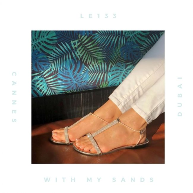 WITH MY SANDS Sandales Femme Plates Strass