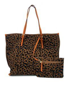 CABAS Imprimé Leopard Toile Canevas