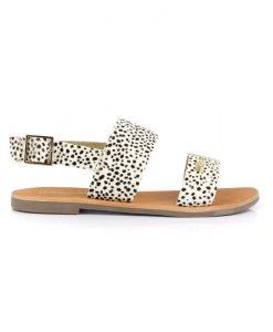 LES TROPEZIENNES Sandales Leopard Phoebus
