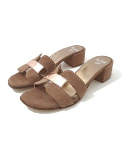MULES BLOW UP Isis Cuir Taupe