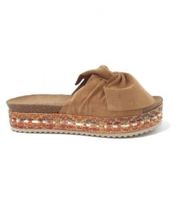 MULES Femme Noeud Camel REQINS