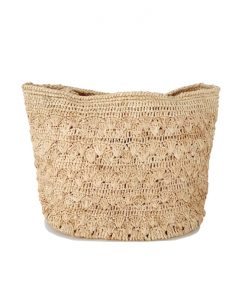 SAC Crochet Raphia Naturel IVAHONA