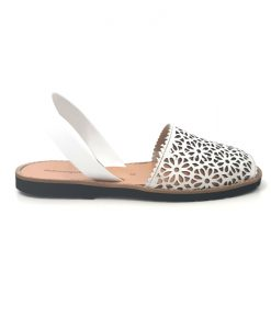 SANDALES Blanches MINORQUINES Moucharabieh