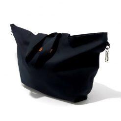 Grand Cabas Tissu Noir