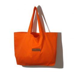Sac Cabas Orange en Tissu