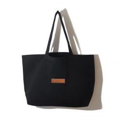 sac cabas tissu noir