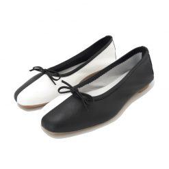 BALLERINE Bicolore Noir Blanc REQINS