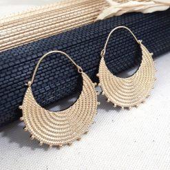 Boucles d' oreilles Dorées Tendance
