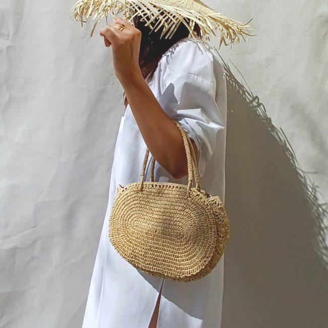 Petit Cabas Crochet Raphia Rabarany